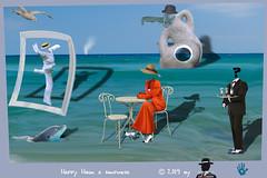 HAPPY HOUR A SORPRESA (ADRIANO ART FOR PASSION) Tags: surrealismo surreale surrealism happyhour mare sea cameriere dama tavolino bar cornice fotomontaggio adrianoartforpassion adriano elaborazione photoshop aperitivo magrittestyle photoshopcreativo