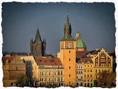 The Prague Perspectives (10) (kurtwolf303) Tags: prague prag praha cityscape stadt stadtansicht tschechien kurtwolf303 architektur architecture tower turm fassaden mft microfourthirds olympusem1 mirrorlesscamera czechrepublic buildings gebäude
