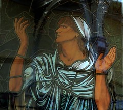 [69077] Birmingham : BM&AG - Elijah in the Wilderness (Budby) Tags: birmingham westmidlands artgallery museum stainedglass window preraphaelite