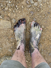 Muddy camoflauge (Barefoot Adventurer) Tags: barefoot barefooting barefooter barefoothiking barefeet barefooted baresoles barfuss muddysoles muddyfeet muddy mud moorland mirroredsoles callousedsoles callouses anklet autumnbarefooting autumnsoles autumn soles strongfeet stainedsoles healthyfeet hiking happyfeet hardsoles toes toughsoles toespread freedom connected earthing earthsoles earthstainedsoles energy