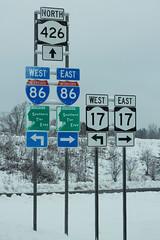 NY426 North at I-86 NY17 Southern Tier Expy (formulanone) Tags: newyork snow i86 86 ny426 426 ny17 17 sr17 sum529 southerntierexpressway interstate86