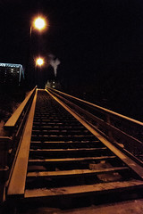 Night Climb (Dcysiv Moment) Tags: stairs night urban dark winter edmonton snow