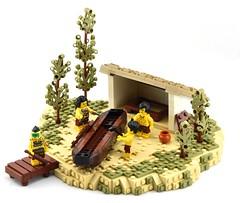 Boat Yard, Myzectlan (Ayrlego) Tags: lego brethrenofthebrickseas bobs aztec myzec myzectlan corrington