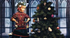 Real joy comes not from ease or riches or from the praise of people, but from doing something worthwhile. (Skippy Beresford) Tags: boy child children childhood kids winter holiday christmas tree joy kindness compassion creativity play imagination ornaments lights ornament warmth heart home light love