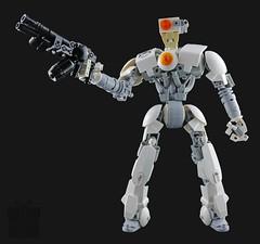 "SGT Jak ""the Mad"" Haddon (Prhymus) Tags: secretsanta white grey black soldier robot bionicle lego moc legomoc jakthemad human figure legobionicle legophotography bioniclemoc"
