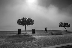 some roads you walk alone (at least that's what you think) (Hendrik Lohmann) Tags: streetphotography street sunlight people portugal lisboa light lisbon lissabon love urban urbanart nikondf nikon nikonphotographer blackandwhite bwstreet bnw bw