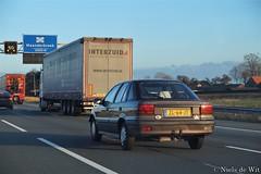 1991 Mitsubishi Lancer 1.5 GLi (NielsdeWit) Tags: nielsdewit car vehicle zl64jt a12 highway driving snelweg mitsubishi lancer mv 15 gli hatchback
