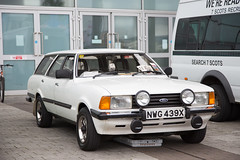 Ford Cortina 2.0 Estate (<p&p>photo) Tags: white 1980s 80s eighties 1981 fordcortina 20 estate ford cortinaestate fordcortinaestate fordcortina20estate cortina nwg439x 5th erskine classic car show erskineclassiccarshow 5therskineclassiccarshow classicshow classicvehicleshow charity vehicle intubraehead arena intubraeheadarena intu braehead renfrewshire scotland uk july2017 july 2017 classiccar classiccarshow auto autos autoshow carshow worldcars
