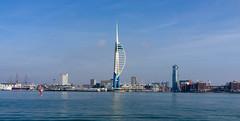 Spinnaker Tower (Rourkeor) Tags: 35mmzeisssonnartlens 35mm england gosport gunwharfquays portsmouth rx1r solent sony uk fullframe harbour reflections spinnakertower tower