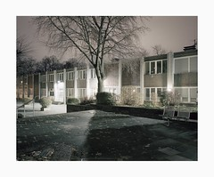 Ehrenfeld, 2018 (Darius Urbanek) Tags: 120 65mm 6x7 ehrenfeld kodak mamiya7 portra400 analog color film longexposure mediumformat night brutalist architecture brutalismus square