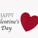 Valentines card with red heart