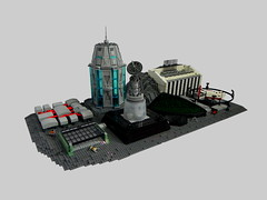Micro Moonbase (Ty Stephany) Tags: lego moc creation spacejam 2019 2018 space moon base residential garage tower office ship
