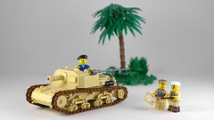 Semovente da 75/18 (Rebla) Tags: lego ww2 world war 2 ii rebla semovente da 7518 italian spg td tank hunter north africa
