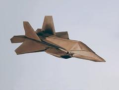 "Lockheed Martin F-22 ""Raptor"" (orig4mi.) Tags: f22 raptor airplane origami paperfolding"