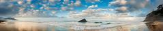 Castle Rock, Arch Cape,Oregon (EdBob) Tags: archcape oregon beach water pacificocean sand sky clouds puffy weather castlerock rock nature panorama panoramic waves sea cannonbeach cliff edmundlowephotography edmundlowe morning landscape pacificnorthwest america usa autumn fall allmyphotographsare©copyrightedandallrightsreservednoneofthesephotosmaybereproducedandorusedinanyformofpublicationprintortheinternetwithoutmywrittenpermission