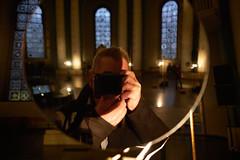 St.Hedwig 6 (Lepantho) Tags: fujixt2 fujixf16mm14 kunstinstallation glowingcore rebeccahorn sthedwigskathedrale kirche berlin deutschland germany selbstportrait