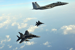 "McDonnell Douglas F-15C ""Eagle's"" (aeroman3) Tags: bilateraltraining f15eagles f16aggressors jasdf kadenaab eielson kunsan osan misawa kadenaairbase okinawa japan jpn"