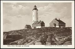 Postkort fra Agder (Avtrykket) Tags: bolighus fyrtårn hus lighthouse postkort uthus arendal austagder norway nor