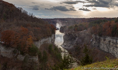 Late afternoon at Inspiration Point (sarahOphoto) Tags: letchworth state park new york upstate united states america use canon 6d landscape fall autumn winter snow waterfall river genesee castile tourist travel trees colour sky evening afternoon late nature clouds sun inspiration point