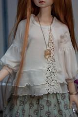 Dollscar 18 SD prize (Vitarja) Tags: rainfoxdoll mushroomrain dollscar18 original prints skirt stockings handmade dollclothes blouse necklace bracelet balljointeddoll bjd fudji dim dollinmind flora morigirl outfit
