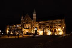 NTNU Trondheim main building (guillaumebour) Tags: night nightshot trondheim nidaros cathedral ntnu winter norway