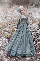 Frost Orchid (AyuAna) Tags: bjd ball jointed doll dollfie ayuana design minidesign handmade ooak clothing clothes dress set outfit gown robe vetement habilles historical edwardian fashion style couture sewing sewingfordolls sd sd16 size soom supergem vesuvia normalskin