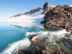 The Ice Terrace (blue polaris) Tags: new zealand tongariro national park mt mount ruapehu volcano mountain glacier meltwater lake landscape ice snow tukino peak