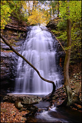Autumn at Denny Cove (BamaWester) Tags: tennessee denny cove waterfall bamawester autumn longexposure nature napg