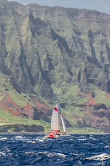 Running Before The Wind (hal.gant) Tags: boat sailing hawaii ocean napali kauai