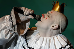 be a clown for a while (JonBauer) Tags: puddlespityparty mikegeier sfsketchfest palaceoffinearts agt americasgottalent closeup makeup clown sadclown live show comedy standup event stage portrait performing performance funny sanfrancisco california nikon d850 200500f56eedvr