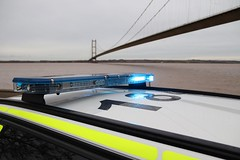 Lightbar (Ben - NorthEast Photographer) Tags: humberside police bmw 3series 330d estate traffic car rpu road policing unit anpr automatic number plate recognition camera system parked blues blue lights sirens fendoffs reflection 68plate brand new ld68 kft ld68kft humber bridge a15 hull cliff