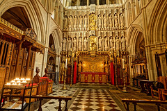 The Altar (Croydon Clicker) Tags: altar frieze candlelight candle carvings statues ornaments tiles arch gothic window church cathedral london londonbridge southwark