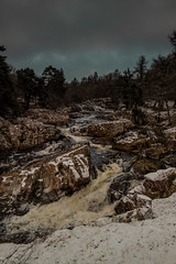 Waterfalls (rattigan_tim) Tags: waterfall movement flowing movingwater motion river waterway water scotland sutherland lairg cassleyfalls winter ice frost freeze uk walking exp explore nature scenic scenery forest walks snow snowfall