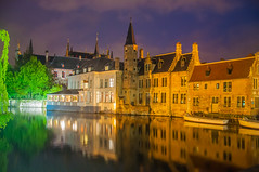 Bruges (Tony Shertila) Tags: belfortvanbrugge belfryofbruges bruges brugge dijver marketsquare architecture belfort bluehour bridge brussels building canal city cityscape europe night tower water vlaanderen belgium bel 20170830213456belgiumbruggelr