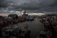 the last one home (stocks photography.) Tags: michaelmarsh whitstable photographer photography seaside coast harbour trawler fish fishing dusk kent