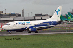 Boeing 737-5L9 YR-BAG Blue Air (EI-DTG) Tags: dublinairport eidw dub 11mar2019 b737 boeing737 blue air blueair yrbag