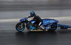 Funny bike_3692 (Fast an' Bulbous) Tags: bike biker moto motorcycle fast speed power acceleration drag strip race track outdoor nikon panning motorsport dragbike racebike santapod gimp d7100