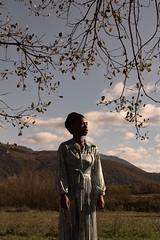 La douce caresse du soleil d'automne... (silvano.fortunato) Tags: shadow light photography conceptual body posing black model woman portrait