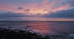 Sunrise Off Whitley Bay Coast (Gilli8888) Tags: whitleybay coast coastal coastline northsea northeast cameraphone samsung s7 sky clouds sea water marine stmaryslighthouse stmarysisland dawn rocks sunrise