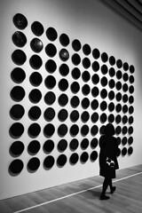 Japan - Tokyo (luca marella) Tags: moriartmuseum japan tokyo dots bw blackwhite bn bnw social art woman biancoenero city life lucamarella