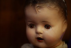 Hey There Baby Doll (Sarah E Springer) Tags: baby doll old vintage light portrait closeup toy collectable face eyes dreamscancometrue flickrology makemesmile imaginativecamera