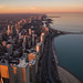 Chicago at Winter Sunset