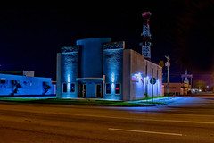 Dixie Crystal Theatre, 100 E Sugarland Hwy, Clewiston, Florida, USA / Built: 1941 / Architectural Style: Streamline Moderne / Architect: C. A. Cone / Added to NRHP: September 25, 1998 / Built by: Earl Anderson Contracting Co. (Photographer South Florida) Tags: dixiecrystaltheatre 100esugarlandhwy clewiston florida usa built1941 streamlinemoderne cacone september25 1998 earlandersoncontractingco antenna