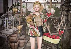 Cozy Spring (Gabriella Marshdevil ~ Trying to catch up!) Tags: sl secondlife cute kawaii doll lelutka spring arcade mudskin wasabi gacha
