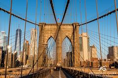 Brooklyn Bridge at Sunrise, New York City, USA (AnthonyGurr) Tags: newyork newyorkcity nyc thebigapple america usa unitedstates brooklynbridge sunrise bridge architecture landmark anthonygurr manhattan city