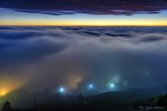 淹沒_DSC7845N (何鳳娟) Tags: 頂石棹 夕陽 雲海 雲瀑 雲彩 色溫 茶園 山岳 台18縣道 大阿里山 風景 夜景 夜琉璃