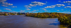 Panoramic view of Potomac River with Roosevelt Island in Autumn - Washington DC (mbell1975) Tags: washington districtofcolumbia unitedstates us potomac river with roosevelt island autumn dc usa america american washingtondc georgetown water fall color colours panoramic panorama pano vista watergate complex