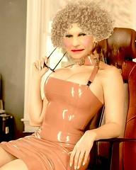 Big boobs in vinyl! (donnacd) Tags: sissy tgirl tgurl slut dressing crossdress crossdresser cd travesti transgenre xdresser crossdressing feminization tranny tv ts feminized jumpsuit domina blouse satin lingerie touchy feely he she look 易装癖 シー