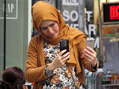 Double Selfie (Multielvi) Tags: new york city ny nyc manhattan midtown woman phone smart selfie candid