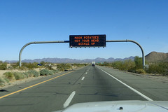 AZ DOT humor (twm1340) Tags: az arizona i10 quartzsite lapaz county sign overhead interstate message funny